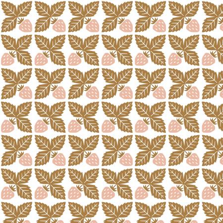 LV300-HB3 Along the Fields - Strawberry - Honey Bee Fabric 1