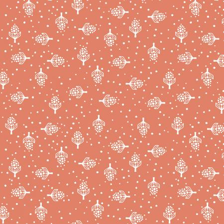 LV302-PF1 Along the Fields - Hyacinth - Pressed Flower Fabric 1
