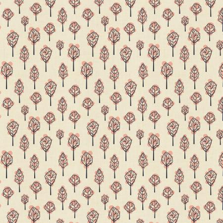 LV203-NE3U In The Woods - Beech Tree - Neutral Unbleached Fabric 1