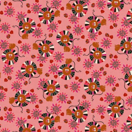 NM103-PI3U Kawaii Nakama - Raion - Pink Unbleached Fabric
