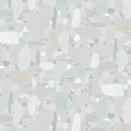 PK105-GY5 Girl\'s Club - Pebbles - Gray Fabric 1