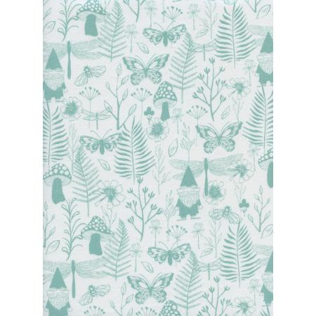 S2070-001 Front Yard - Garden - Teal Fabric
