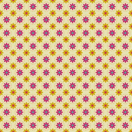 TB103-YE4 From the Desk of... - Daisies in Circles - Yellow Fabric 1