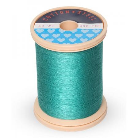 753-0640 Medium Aqua 50 Wt. Cotton Thread Spool